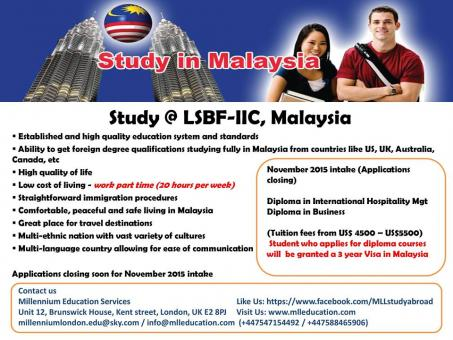 STUDY & WORK IN MALAYSIA ! (LOWEST TUITION FEES)